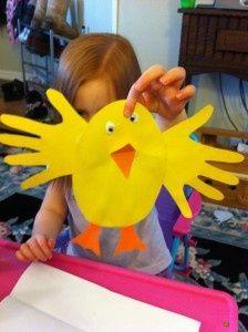 Cardboard Easter chicken
