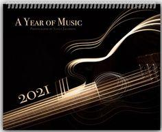 2021 Music Calendar, 2021 Calendar, Musical Instrument Wall Calendar, Bass Guitar Trumpet Clarinet Violin Music Gift, 11x14 Glossy Planner