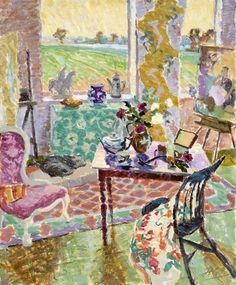 "huariqueje: ""  Studio Interior, Springtime - Hugo Grenville British, b.1958- Oil on Canvas 46"" x 38"" """