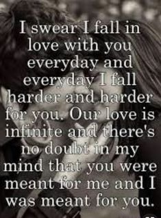 How did You sleep? Baby, I love you more than I have ever loved anyone. We are meant to be and always will.Words from My amaziing man. Love Quotes For Him Romantic, Love Quotes For Her, Love Yourself Quotes, Love Poems, You Are My Everything Quotes, Romantic Love Messages, Soulmate Love Quotes, True Love Quotes, Amazing Man Quotes
