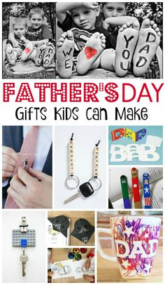 Father's Day Crafts for Kids - some great Father's Day Gifts that kids can make. We love Father's Day and it is great to make something personal and special. Check out these fabulous Father's Day Ideas for kids.
