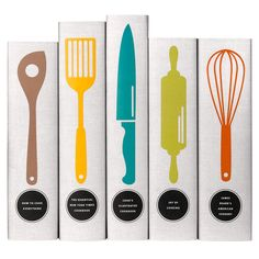 Set of 5 cookbooks in custom printed book jackets from Juniper Books.