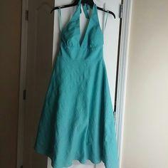 J Crew halter dress Halter cotton. Will fit a size 6 J. Crew Dresses Midi
