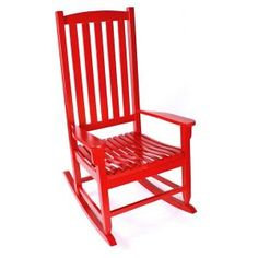 Red rocking chairs for porch Red Rocking Chair, Red Rocker, 5 Piece Dining Set, Outdoor Seating, Outdoor Ideas, Antique Stores, Acacia Wood, Front Porch, Furniture Decor