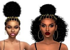 Alicia Hair // sims 4 cc // custom content black hairstyle // black simmer, african american, – Famous Last Words Natural Afro Hairstyles, Ethnic Hairstyles, Natural Hair Updo, African American Hairstyles, Girl Hairstyles, Natural Hair Styles, Sims 4 Black Hairstyles, School Hairstyles, Weave Hairstyles