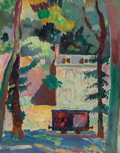 "lawrenceleemagnuson: ""Raoul Dufy (France 1877-1953) Le petit wagon (1905) oil on canvas 40.6 x 32.1 cm """