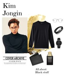"""#EXOKAI KIM JONGIN POLYVORE"" by chintiyandra on Polyvore featuring Lands' End, HUGO, N'Damus, Ray-Ban, Gucci, Dopp, men's fashion and menswear"