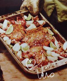 Recette coup de coeur de Véro: Poulet crapaudine paprika lime #recette #antoinesicotte #veromagazine