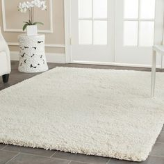 Safavieh Ultimate Cream Shag Rug (8'6 x 12') - Overstock Shopping - Great Deals on Safavieh 7x9 - 10x14 Rugs