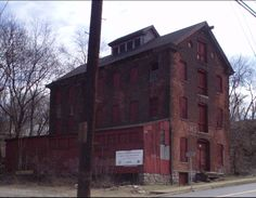 Abandoned silk mill. Formerly R Simon Company silk mill, later operated by the Onondaga Silk Company. Easton, PA.