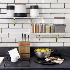 marble wall-mounted shelf | CB2