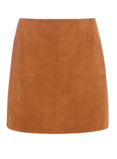 Photo 1 of Tan Suedette Pocket Mini skirt
