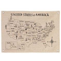 Grand Canvas Banner (Map)    Crate and Barrel