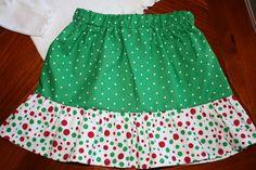 Polka Dot Christmas Skirt on Etsy, $15.00
