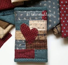 Fabric Book Covers, Crafts To Make And Sell, Quilted Table Runners, Patchwork Bags, Patch Quilt, Handmade Books, Mini Quilts, Sewing Notions, Pin Cushions