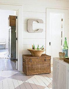 Painted Wood Floors | Sarah Barksdale Design