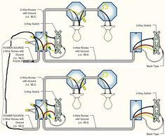 Wiring diagram for multiple lights on one switch power coming in two 3way switches same power source asfbconference2016 Image collections