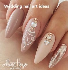 35 Simple Ideas for Wedding Nails Design #weddingnails