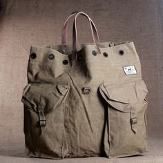 """The """"Large Vintage Army Tote"""" by WILL LEATHER GOODS"""