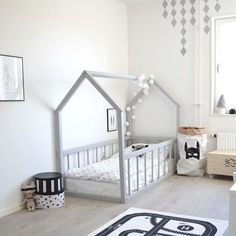 Big kid room Love the house frame bed! is part of Toddler floor bed - Toddler Floor Bed, Toddler Rooms, Floor Beds For Toddlers, Kids Rooms, Kid Floor Bed, Low Toddler Bed, Toddler Beds For Boys, Ikea Toddler Bed, Toddler Bed Frame