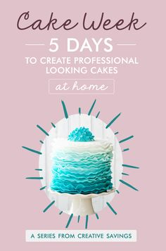 Learn how to make simple, yet professional-looking cakes at home! This series is perfect for beginners, and teaches you all the skills you need to take your homemade cakes to the next level. You don't have to be a professional to use these cake decorating tips and tricks, but after showing everyone what you can do, friends will be paying YOU to make all their birthday goodies!