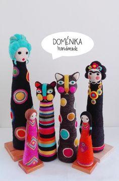 Doménika Handmade: Figuras Vellón Agujado / Needle Felting Figures