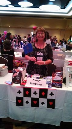 Yup, I'm waving my RITA finalist flag at the giant literacy booksigning at the 2015 RWA conference (NYC).