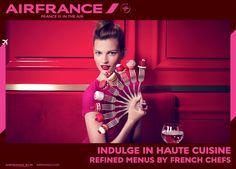 エールフランスの広告がファッション誌風にリニューアル   Fashionsnap.com