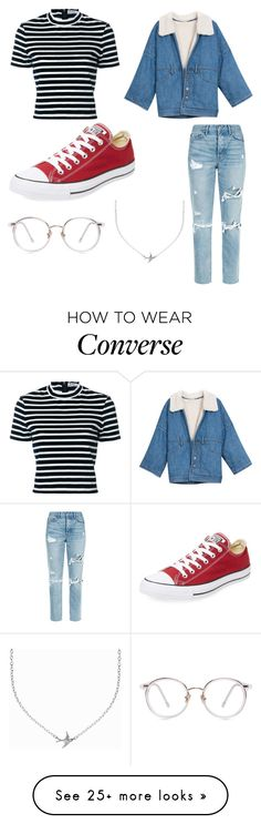 """12-29-17"" by cmv31 on Polyvore featuring T By Alexander Wang, GRLFRND, Converse and Minnie Grace"