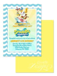 123 best children birthday party invitation designs images on spongebob squarepants digital birthday party invitation child party ideas children party themes children filmwisefo