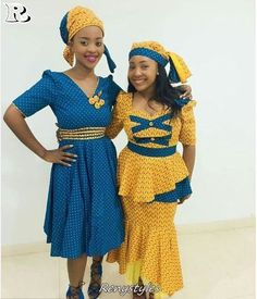 The Best Tswana African Traditional Wear Pictures. We have lots of tswana traditional dresses for bridesmaids, tswana wedding dresses pictures, tswana traditional wedding dresses, tswana makoti dress. African Dresses For Women, African Attire, African Wear, African Women, African Fashion, Xhosa Attire, African Beauty, Seshweshwe Dresses, Fashion Dresses