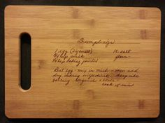 Custom engraved cutting board for Stephanie from 3dcarving on Etsy