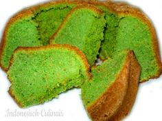 Bolu Koja - Groene cake met pandansmaak