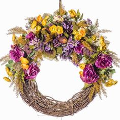 Rose and Rannuculus  Everyday Wreath (FW907) - Fall Wreath