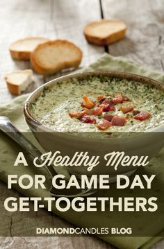 a healthy menu for game day