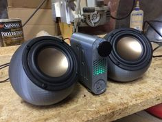3D printed ikyaudio soundspheres  with Bluetooth  you by ikymagoo