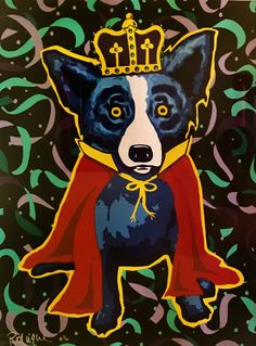 King of the Carnival  1996 by Blue Dog George Rodrigue - Serigraph