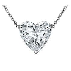 Rare 12.32 Carat Type lla Heart Shaped Diamond Pendant