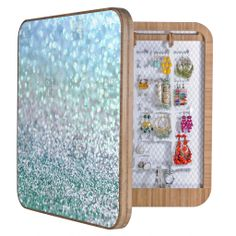 Lisa Argyropoulos Blue Mist Snowfall BlingBox | DENY Designs Home Accessories #bling #blingbox #ombre #blue #girly #awesome #cute #pretty #home #gifts #jewelry #trinkets #wall #art #abstract #bokeh #decor #cabinet #DENYdesigns #DENYholiday #shopsmall