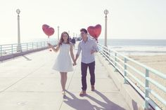 Heart Balloons and beach promenades   A Photographers