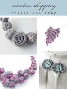 love this fabric jewellery