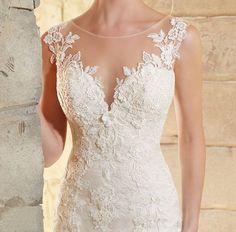 Lovelybride Charming O Neck Cap Sleeve Appliques Lace Mermaid Wedding Dress 2016 at Amazon Women's Clothing store: