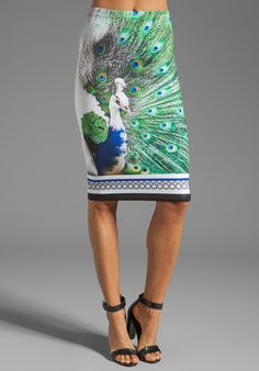 CLOVER CANYON Peacock Neoprene Skirt in Multi at Revolve Clothing - Free Shipping!  $198