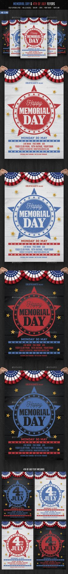 July Patriotic Th Flyer Template  Flyer Template