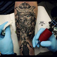 #drozdovtattoo #tattooinstartmag #tattoostyle #chicano #tattooart #blackandgrey…