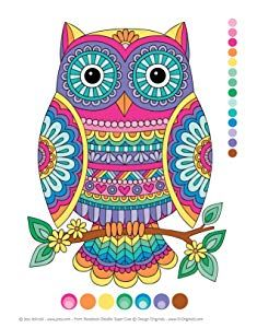 Beginner-Friendly Relaxing, Creative Art Activities on High-Quality Extra-Thick Perforated Paper Owl Coloring Pages, Coloring Books, Zentangle Patterns, Embroidery Patterns, Round Robin, Notebook Doodles, Indian Folk Art, Owl Crafts, Color Activities