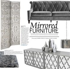 """""""Mirrored Furniture"""" by punnky-interiors on Polyvore"""