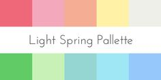 color analysis light spring palette                                                                                                                                                                                 More