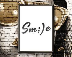 Items similar to Smile Nursery Prints, Etsy Handmade, Printable Wall Art, Art Boards, Canvas Wall Art, Motivational, Framed Prints, Wall Decor, Printables