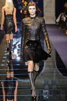 I see an assassin for the Church, a la movie PRIEST ~ Versace Fall 2012 RTW